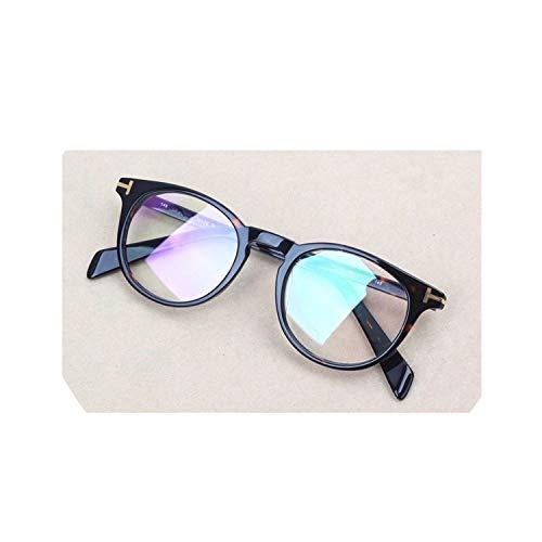 super-cool Acetat Brillenrahmen für Männer und Frauen, kleines Gesicht, runde klare Gläser, für Herren, verschreibungspflichtige Brillen, luxuriöses Design Gr. Einheitsgröße, multi