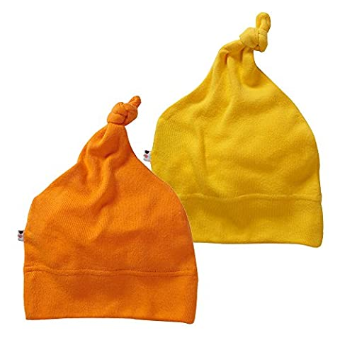 Babysoy Eco Knot Beanie Hat Pack of 2 (0-6 Months,