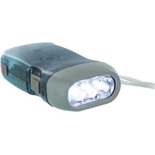 Dcolor Blau Kunststoff-Dynamo-Taschenlampe mit 3 LED-Leuchten mit Lanyard