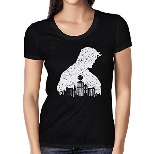 rk - Damen T-Shirt, Größe L, schwarz (Baby Clark Kent Kostüm)