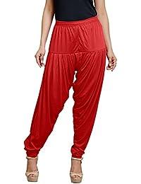 Goodtry Women's Partywear patiyala-Red