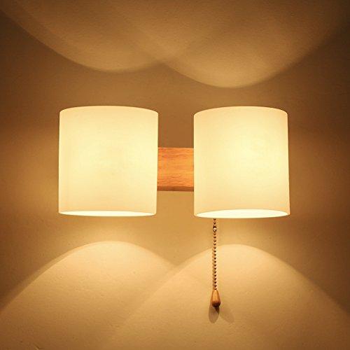 ZQ@QX Parete decorativa tradizionale semplice hotel café ristorante lampada da parete Applique in legno creativo 330 * 330 * 100 (mm)