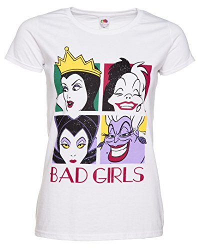 Womens White Disney Villains Bad Girls T Shirt (T-shirt Kids Diva)