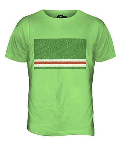 CandyMix Tschetschenische Republik Itschkerien Kritzelte Flagge Herren T Shirt Limettengrün