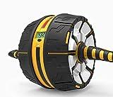 AplusT Roue Abdominaux AB Wheel Roller de Fitness Musculation Appareil Abdos -Tapis �pais pour Genou. �cran d'affichage Intelligent.