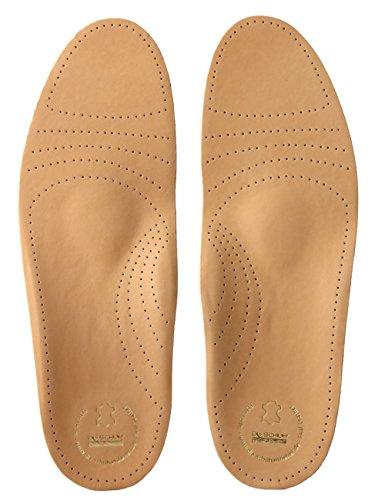 biped Soft Fußbett extra weich aus pflanzlich gegerbtem Leder - mit Pelotte - Mittelfußstütze - Fersenpolster und Aktivkohle z1719 (40)