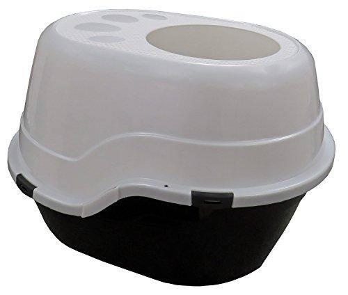 PETGARD Katzentoilette TANTA mit Einstieg von Oben schwarz-Weiss -