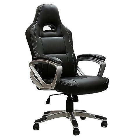 Gaming Stuhl Chair, IWMH Hoch Rücken Ergonomischer PU Leder Bürostuhl