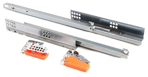 RONIN FURNITURE FITTINGS® Blum Schubladenschiene, Tandem plus BLUMOTION 50kg 650mm Blumotion integriert 566H6500B01 inkl. Kupplungen (T51.1700.04)
