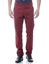 Yuvi Red Cotton Trouser