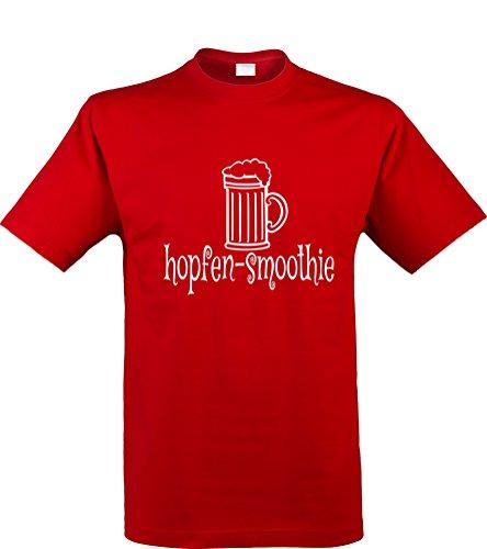 Formen Kostüm Herr Maker (klamottenkiste24 Herren T-Shirt, hopfen-smoothie, rot, Gr.)