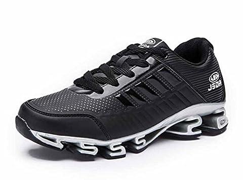 Hommes Chaussures De Course À Pied Automne Nouvelles Tenues De Basketball Respirantes Formateurs Chaussures De Fitness ( Color : Black , Size : 43 )