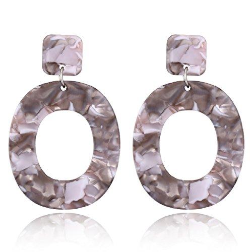 Kofun 1 Paar Ohrringe, Ohrringe für Frauen Geometrischen Schmuck grau