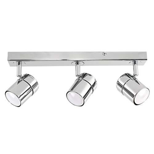 MiniSun, Moderne Plafonnier, applique, réglette, rail. 3 x GU 10, orientable. Finition en Chrome poli