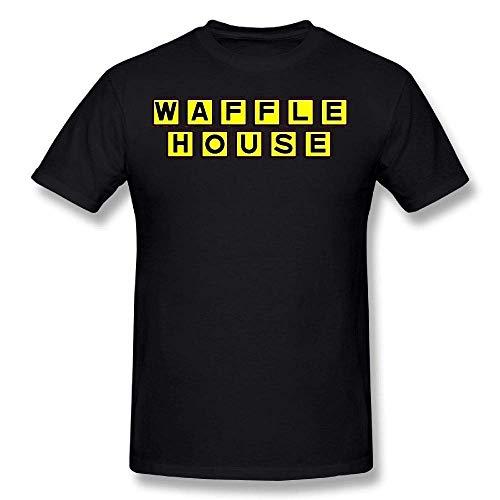 Herren Waffel House Tee Shirts Tshirt Kurzarm Rundhals Baumwolle T-Shirt Plus Size T Shirt für Jugendliche Jungen Herren 5X -