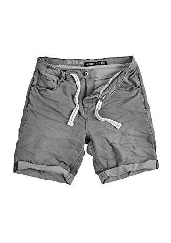 riverso Herren Sweat Jeans Shorts 'FRED' Sommer Bermuda Sweathose - schwarz - grau - blau - dunkelblau, Größe:W 31, Farbe:Grey Denim (23000) - Blau Männer Köln