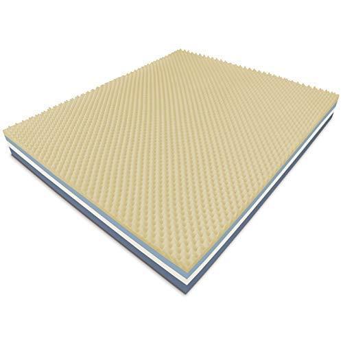 Baldiflex materasso memory matrimoniale, dream soft bugnato, 7 cm memory, h 25 cm, fodera aloe 3d, misura 160x190x25cm