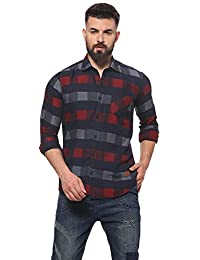 Campus Sutra Men's Regular Fit Casual Shirt