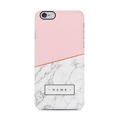 Personalised Customizable Letters Name Initials Custom Quote Black Geometric Marble Custodia Protettiva In Plastica Rigida Cover Per iPhone 5 / iPhone 5s / iPhone SE Case Gray Pink Blocks