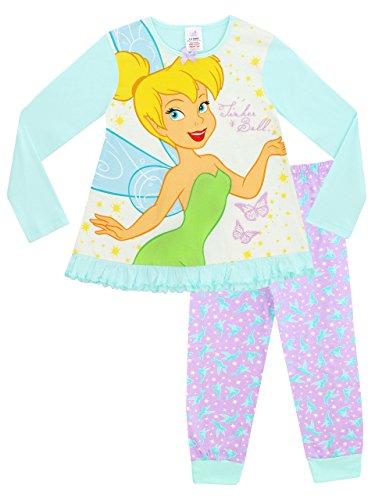 Disney tinkerbell - pigiama a maniche lunghe per ragazze - trilli - 5 - 6 anni