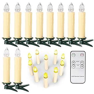 Velas LED Sin Fuego – Velas Electrónicas con Baterías Incorporadas San Valentín, Cumpleaños, Fiestas, Navidad, Festivales, Decoración