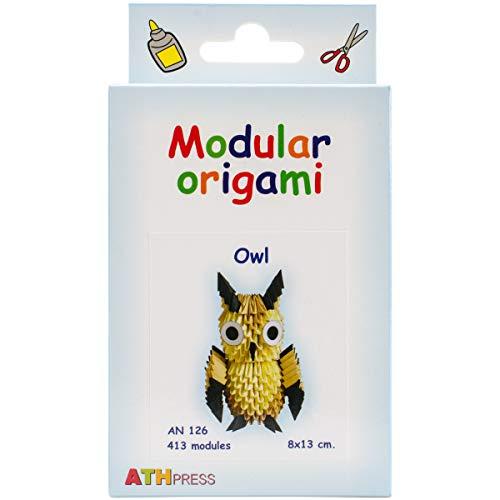 Modular Origami 413 Stück Owl Origami-Kits, Andere, transparent, 16x9x3 cm -