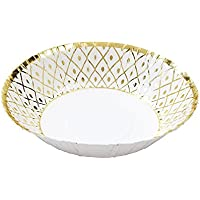 Talking Tables Party Porcelain Gold Foil Bowls for Christmas, Weddings and Dinner Party, Gold (12 Pack)