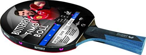 TIMO BOLL BLACK Ausgefeilter Tischtennisschläger BUTTERFLY TIMO BOLL BLACK für technisch fortgeschrittene Spieler. (Butterfly Timo Boll Schläger)