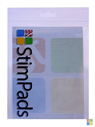 StimPads®, 40X40mm, 12-er SPAR-PACK leistungsstarke, langlebige TENS - EMS Elektroden mit 2mm Universal-Stecker-Anschluss - 3