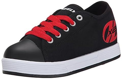 Heelys X2 Fresh, Chaussures de tennis garçon, Noir (Black / Red), 38 EU