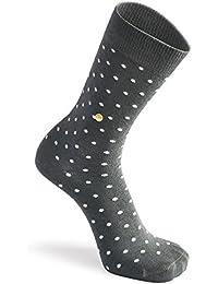 The Moja Club Socks For Men - Premium Charcoal Grey Polka Dots - High Quality Work Socks