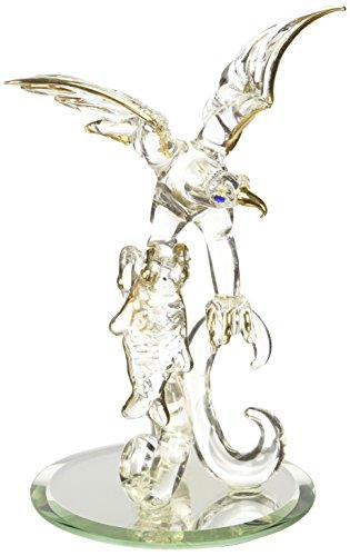 -vt-7361eaglewith Fisch Kristall Glas Figur Designer Accessoire-Kollektion (Teens Accessoires)