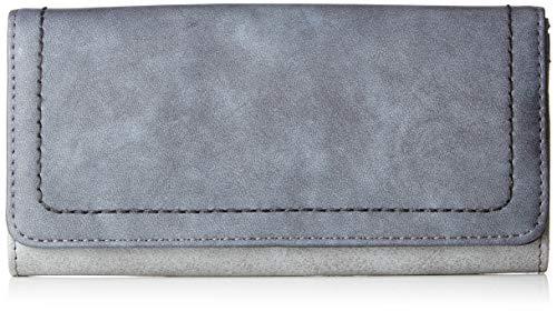 s.Oliver (Bags Damen Portemonnaie Geldbörse, Grau (Slate Grey), 3x10x19 cm