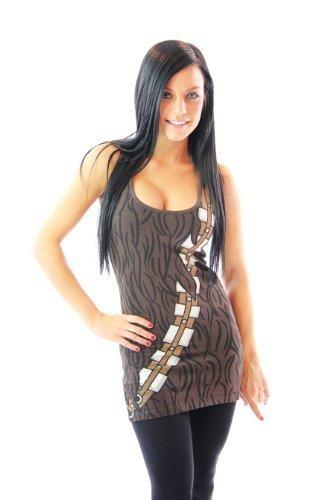 acca Junior braun Kostüm Tank Top (Junior Large) (Chewbacca Damen Kostüm)