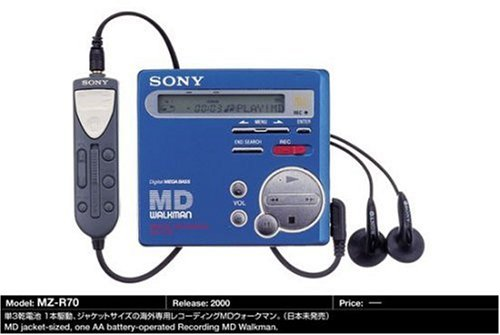 Sony MZ-R70/S tragbarer MiniDisc-Player silber