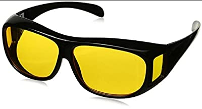 Day & Night Hd Vision Goggles Anti-Glare Polarized Uv Protected Rectangular Unisex Sunglasses(Hd- Goggales)