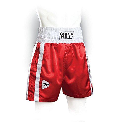 GREEN HILL Boxing PANTALÓN DE Boxeo PANTALÓNES Cortos Elite Uniforme Amateur Rojo Rojo,XXS