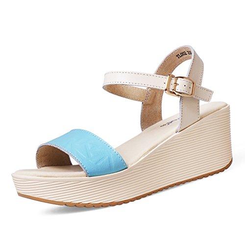 gâteau Lady sandals à la fin de confort/wild wedge Sandals/Plate-forme surélevée étudiant loisir sandales C