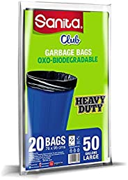 Trash Bags Sanita Club, 50 Gallons, 20 Bags, PG23BO5001R11