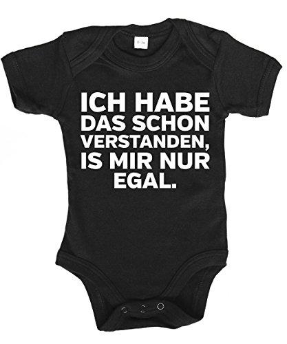 clothinx - Ich Habe Das Schon Verstanden, ist Mir Nur Egal - Babybody Schwarz, Größe 0/3 Monate