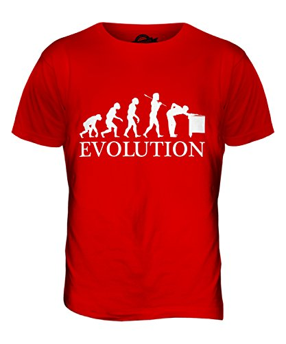 CandyMix Snooker Evolution Des Menschen Herren T Shirt Rot