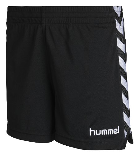 Hummel Damen Shorts Stay Authentic Poly, black, XS, 10-628-2001 (Hummel Gestickte)