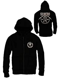 Sweat Zippé Homme Sons of Anarchy - SAMCRO Chained - Legend Icon