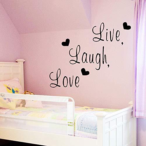 wujingsha Abnehmbare Live Lachen Liebe Wandaufkleber Moderne Mode Wandaufkleber Wohnzimmer Schlafzimmer Aufkleber Wandbild 58 cm X 46 cm -