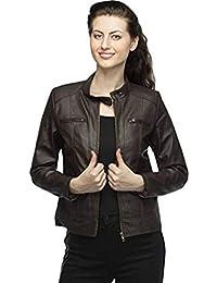 Girls Shopping Full Sleeve Pu Leather Fashionable Jacket for Women   Girls