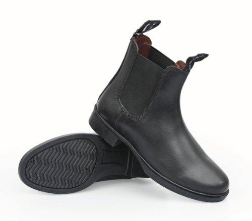 Chemin équestre adultes Bottes Boots d'équitation en cuir Marron - Noir