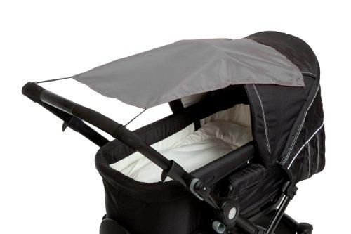 Altabebe AL7010-11 Sonnensegel mit UV Schutz für Kinderwagen/Buggys, dunkel grau