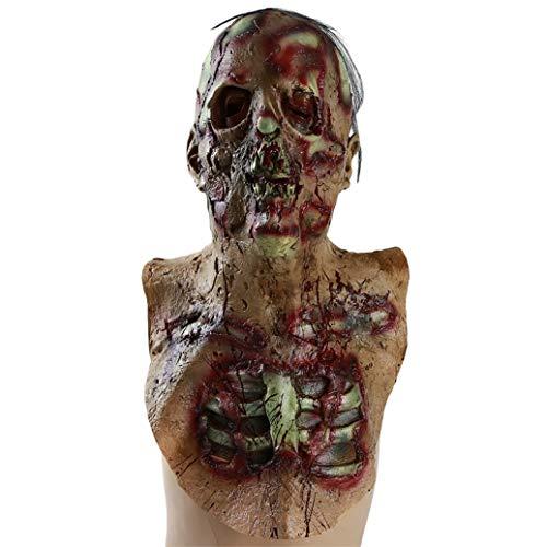 GOMYIE Walking Dead Scary Maske Resident Evil Zombie Maske Bloody Monster Maske Halloween Kostüm Party Latex Requisiten (Maske)