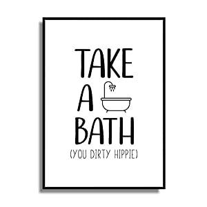 Kunstdruck Bad Poster WC Bild Badezimmer Print DIRTY HIPPIE