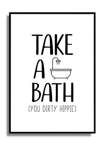 r WC Bild Badezimmer Print DIRTY HIPPIE ()